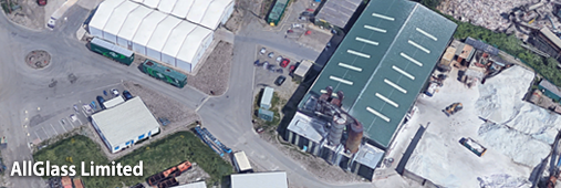 Air photo of Allglass factory